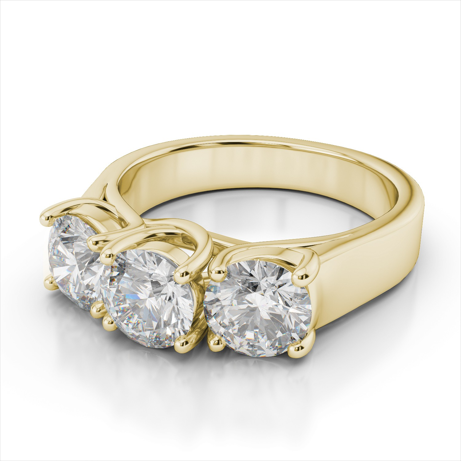 white engagement bands diamond solitaire prong products with band rings beaded gold diamonds ring surprise