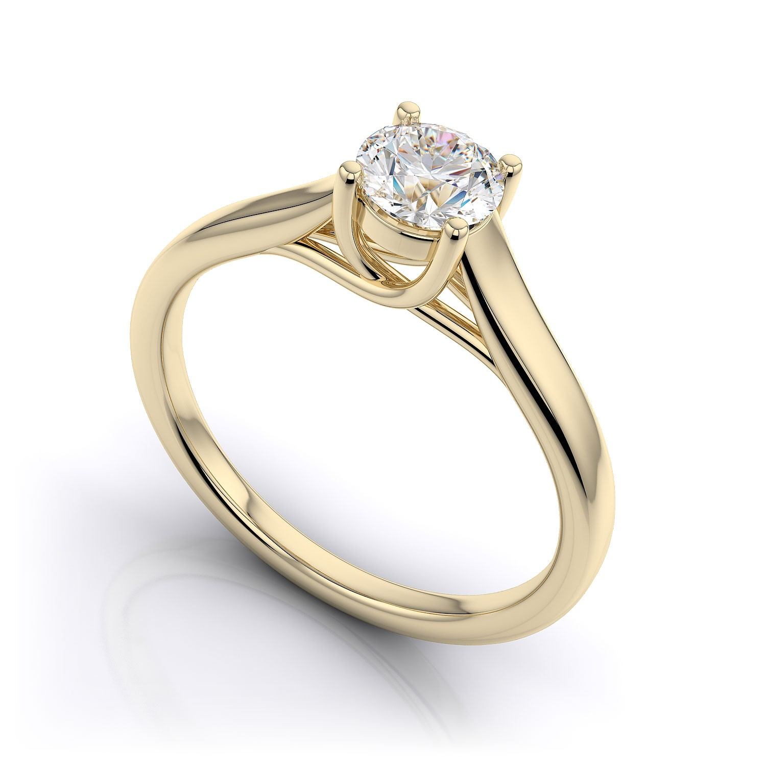 Trendy engagement ring for young Gold engagement ring styles
