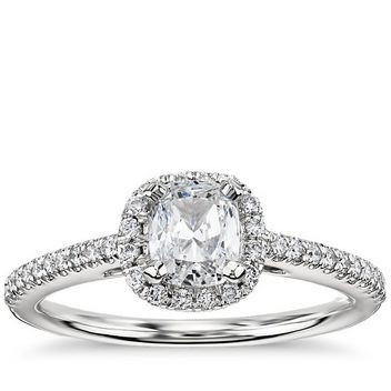 halo platinum engagement ring